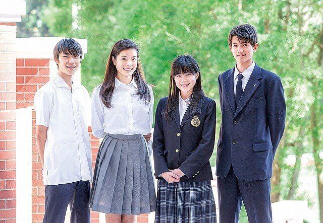 玉川学園中学部と高校部の制服