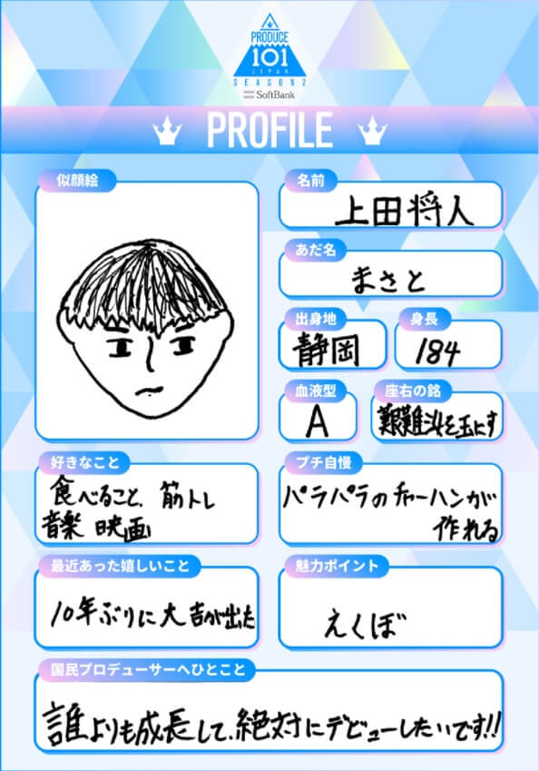 上田将人のプロフィール